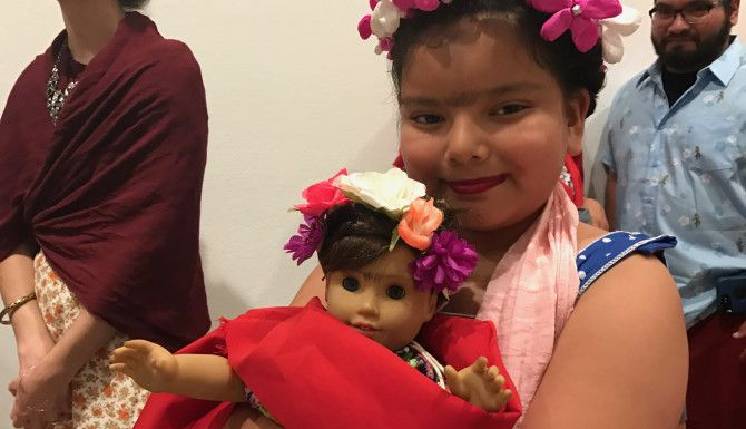 Jaezzlene Briones también asistió al Frida Fest en Dallas/ FOTO MARIANA SIERRA