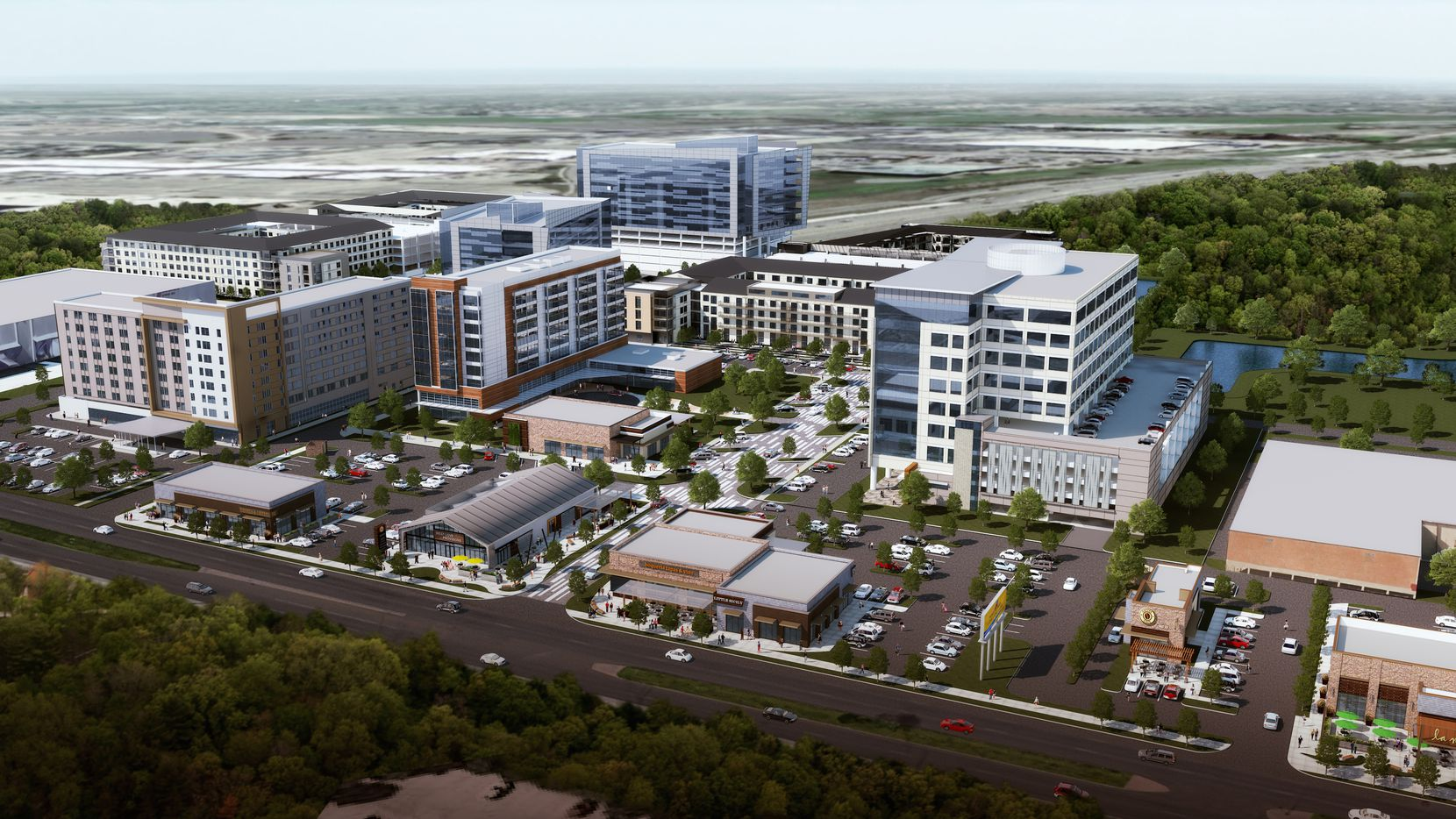 The $320 million West Love project includes hotel rooms, apartments and, soon, restaurants and retail.