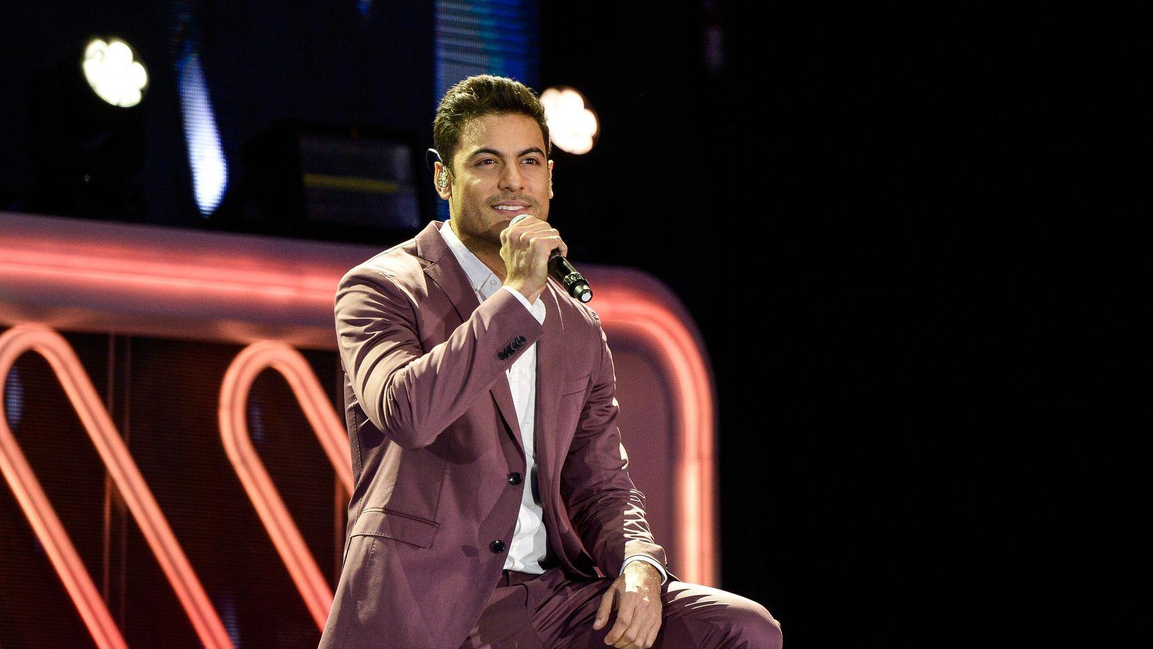 Carlos Rivera encabezó el miércoles por la noche el Latin Grammy Acoustic Session de la Ciudad de México, parte de las actividades rumbo a la 20ma edición de los premios de la Academia Latina de la Grabación, que se entregarán en noviembre en Las Vegas.  (Photo by Carlos Alvarez/Getty Images)