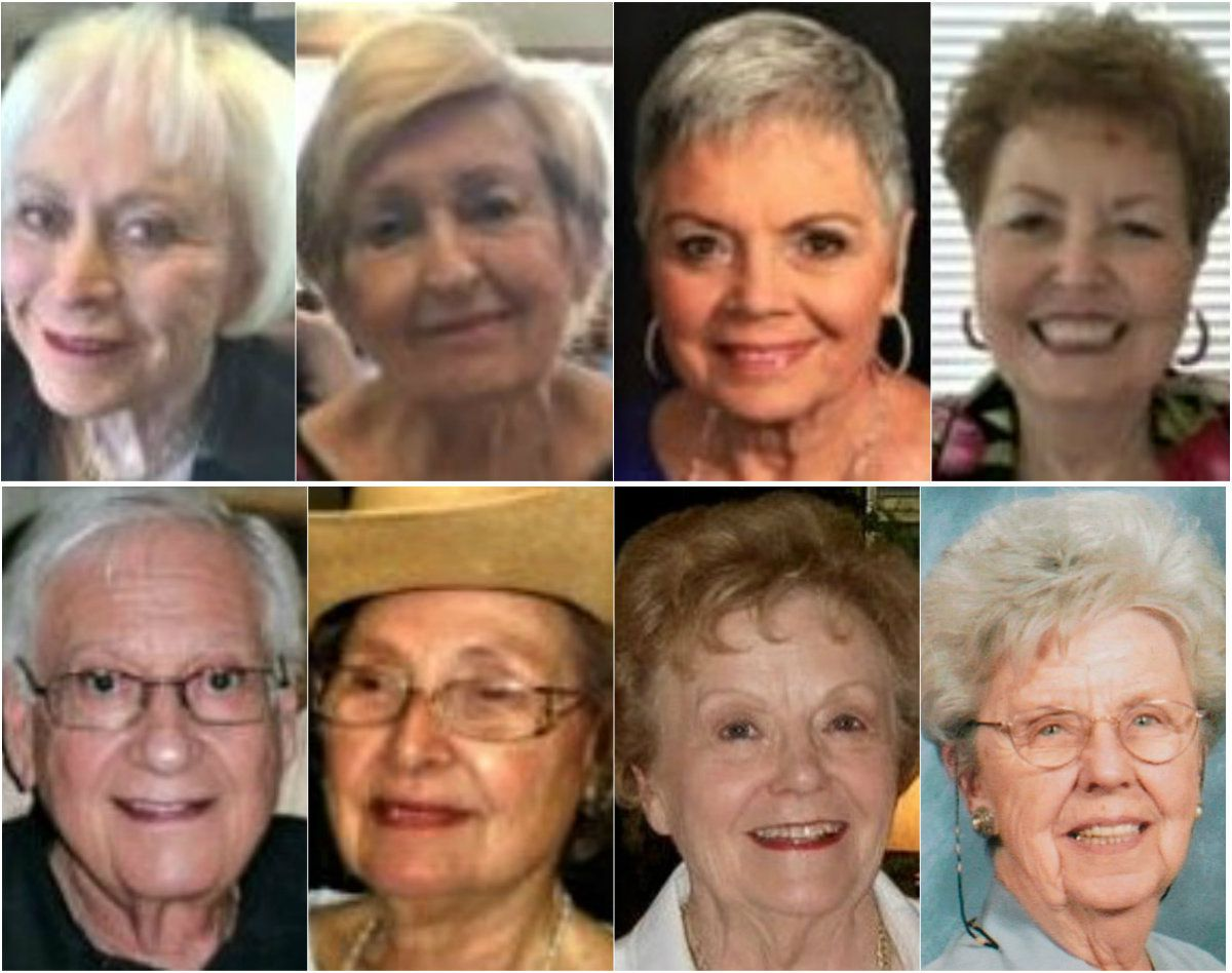 A lawsuit against The Tradition-Prestonwood alleges that Billy Chemirmir — posing as a maintenance worker at the senior living home — killed (top row from left) Joyce Abramowitz, Leah Corken, Glenna Day, Juanita Purdy and (bottom row from left) Solomon Spring, Margaret White, Norma French and Doris Gleason. Capital murder indictments previously were filed in the deaths of French and Gleason. No charges have been filed in the other deaths.