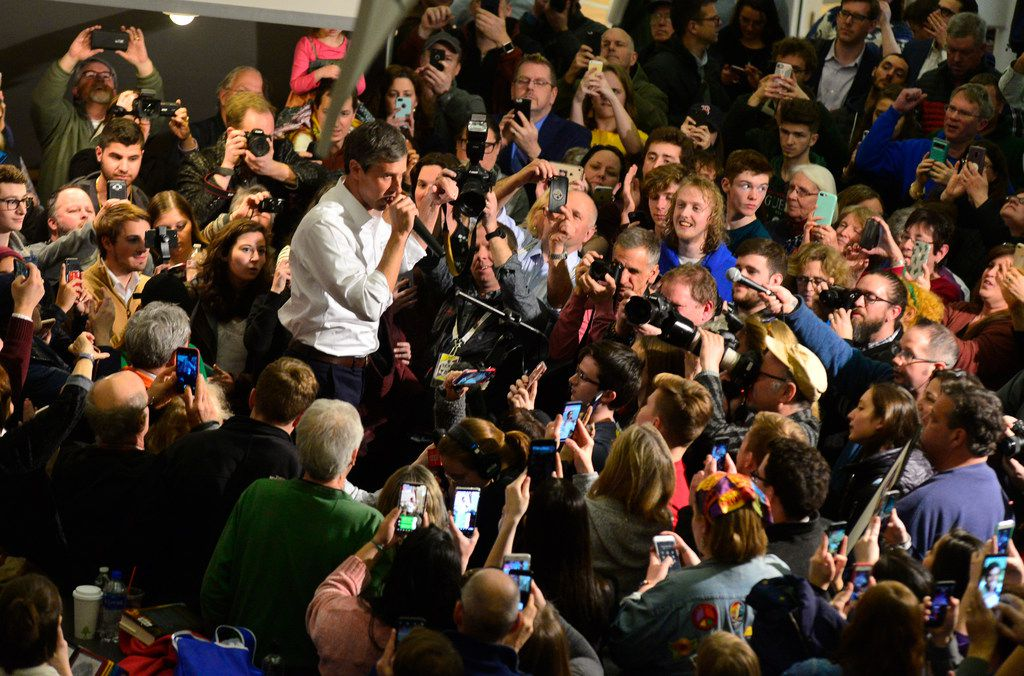 Former U.S. Rep. Beto O'Rourke, a Democratic presidential candidate, visits Keene State College in Keene, N.H., on Tuesday, March 19, 2019.