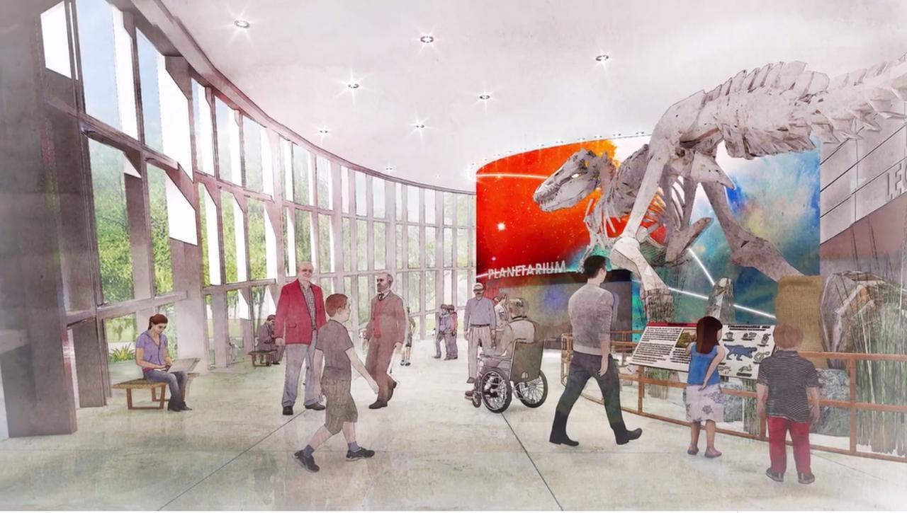Un bosquejo de lo que sería el museo creacionista en Dallas.(CORTESÍA)