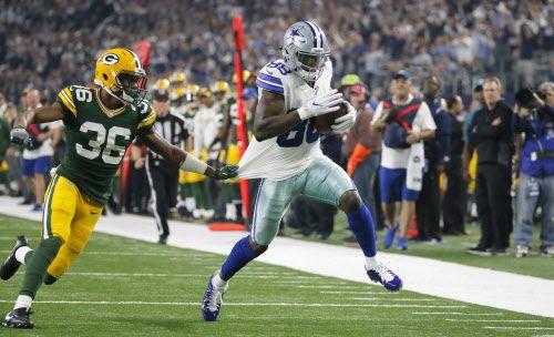Dez Bryant (der.) anotó 2 TD para los Cowboys el domingo. Foto DMN.