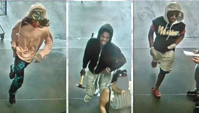 Dallas police are looking for four men, including three pictured in surveillance footage, who are suspected of robbing a North Dallas Costco.