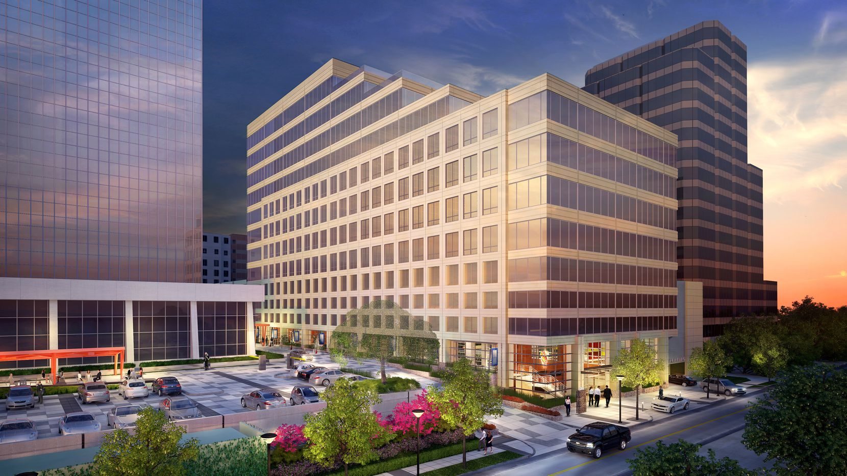 Lionstone Investments and PegasusAblon are building a 12-story office project in Preston Center in North Dallas.