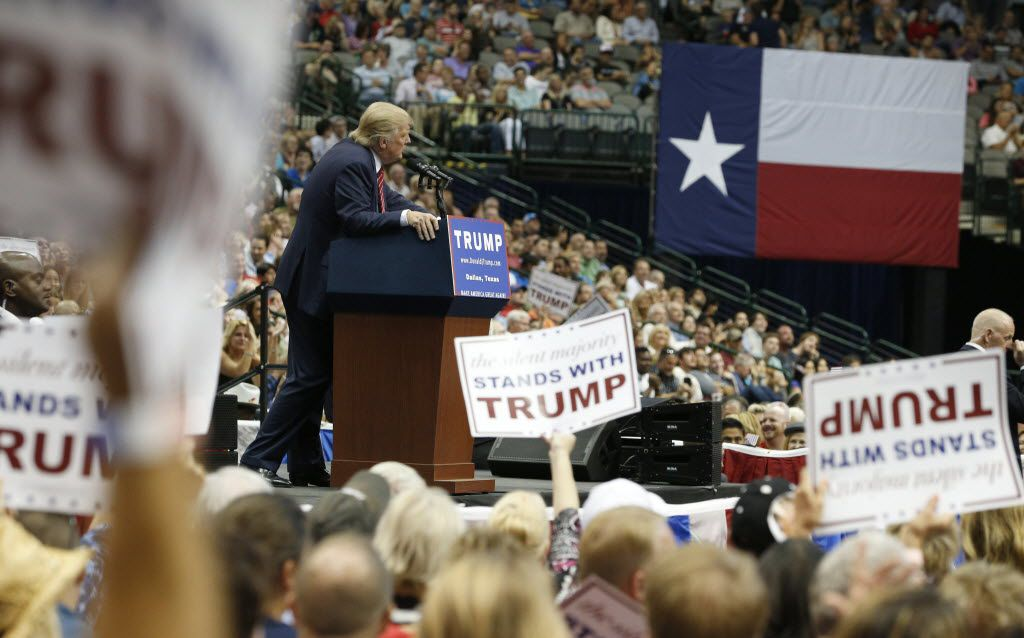 Donald Trump campaigned at American Airlines Center last September. (Nathan Hunsinger/Staff Photographer)