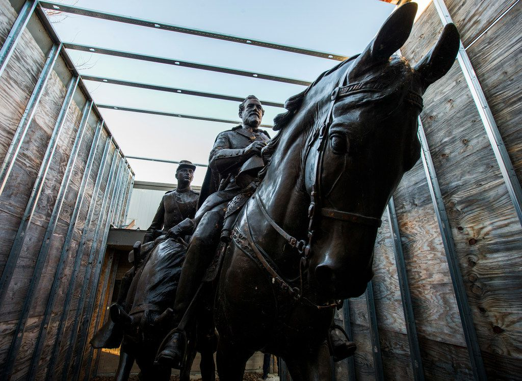 Alexander Phimister Proctor's statue of Robert E. Lee has been in storage at Hensley Field since its removal in September 2017.