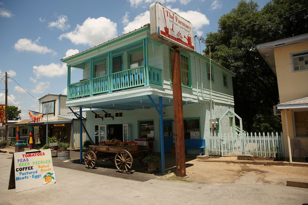 The exterior of The Farmacy in Edom, Texas.