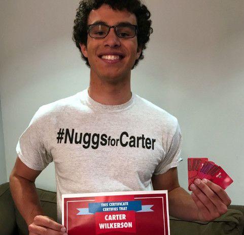 Carter Wilkerson obtuvo un año de nuggets gratis de la cadena Wendy's, tras alcanzar más de 3.4 millones de retuits./ AGENCIA REFORMA