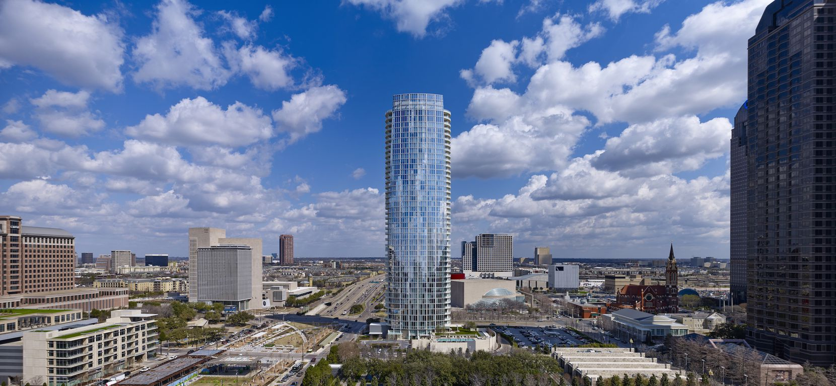 The $200 million Museum Tower opened in 2010 with 42 floors.
