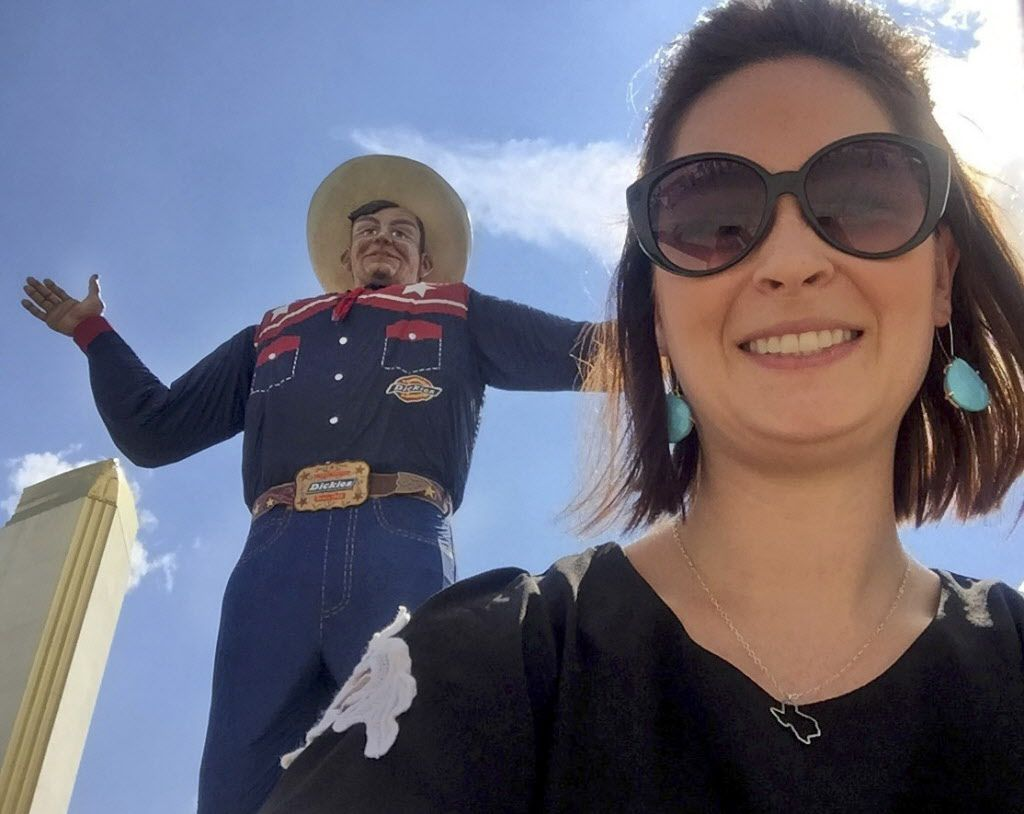 State Fair of Texas mascot Big Tex, who could crush GuideLive writer Sarah Blaskovich like an ant.