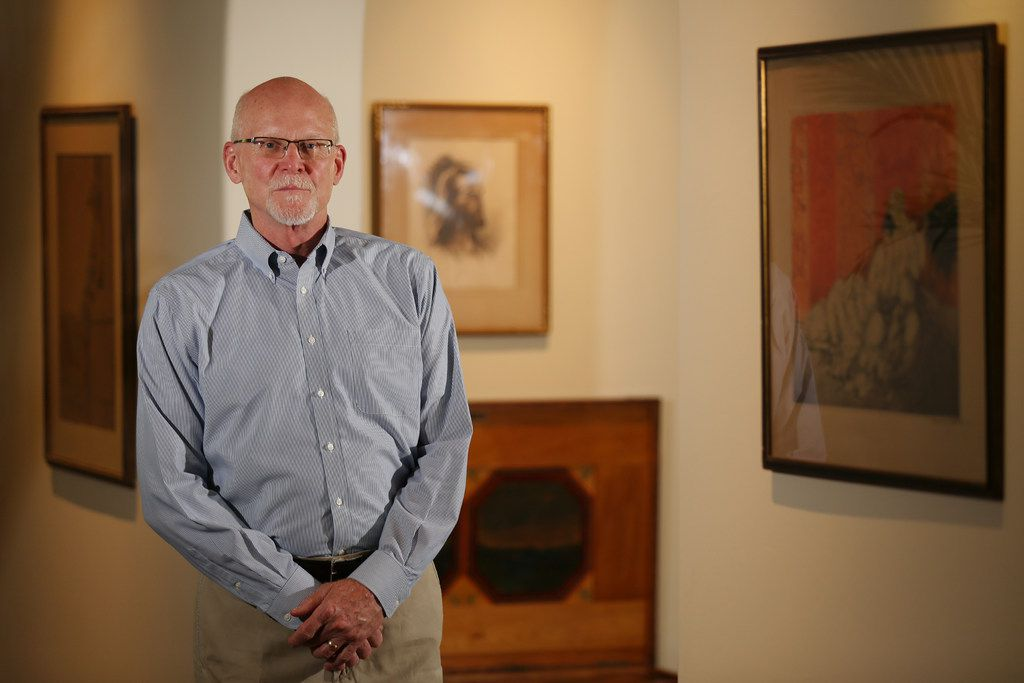Steve Sallman is the grandson of Warner Sallman, who painted the famed and widely reproduced Head of Christ. He was photographed in his Dallas home on June 28, 2018.