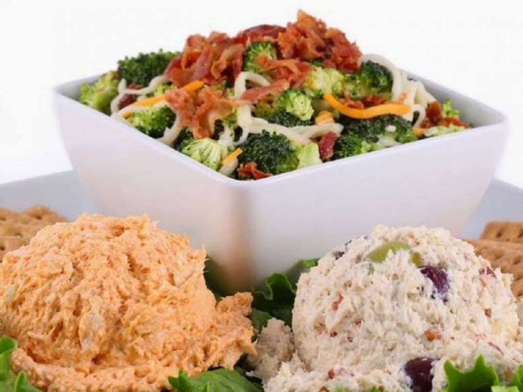 Chicken Salad Chick offers 15 different twists on its signature item, plus sides such as broccoli salad and a few other menu selections.
