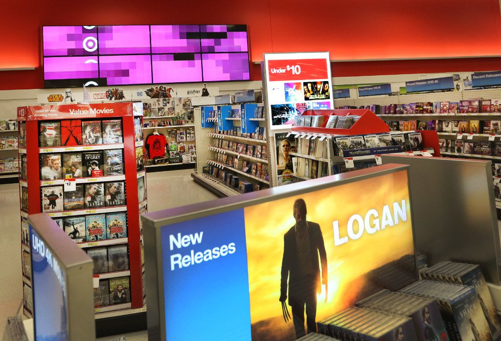 A look at the revamped tech and electronics area at the Target store at Coit and Campbell in North Dallas.