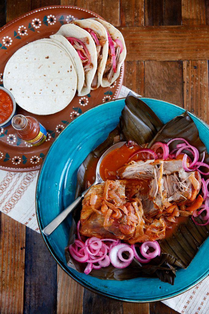 Slow-cooker cochinita pibil (achiote-rubbed pork shoulder)