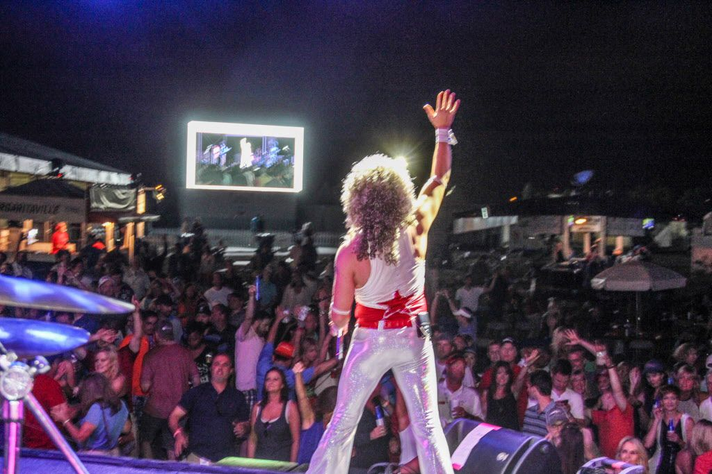 Disco Cover Band Le Freak provided the entertainment for the after party at the AT&T Byron Nelson golf tournament  after play was finished on May 30, 2015.