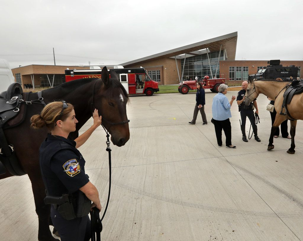 Community members and guests view the new Collin College Public Safety Training Center in McKinney, TX, on Sep. 28, 2018. (Jason Janik/Special Contributor)