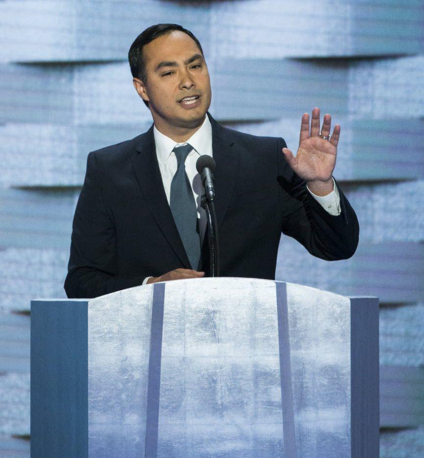 U.S. Rep. Joaquin Castro, D-San Antonio, spoke at the Democratic National Convention on July 28, 2016 in Philadelphia.