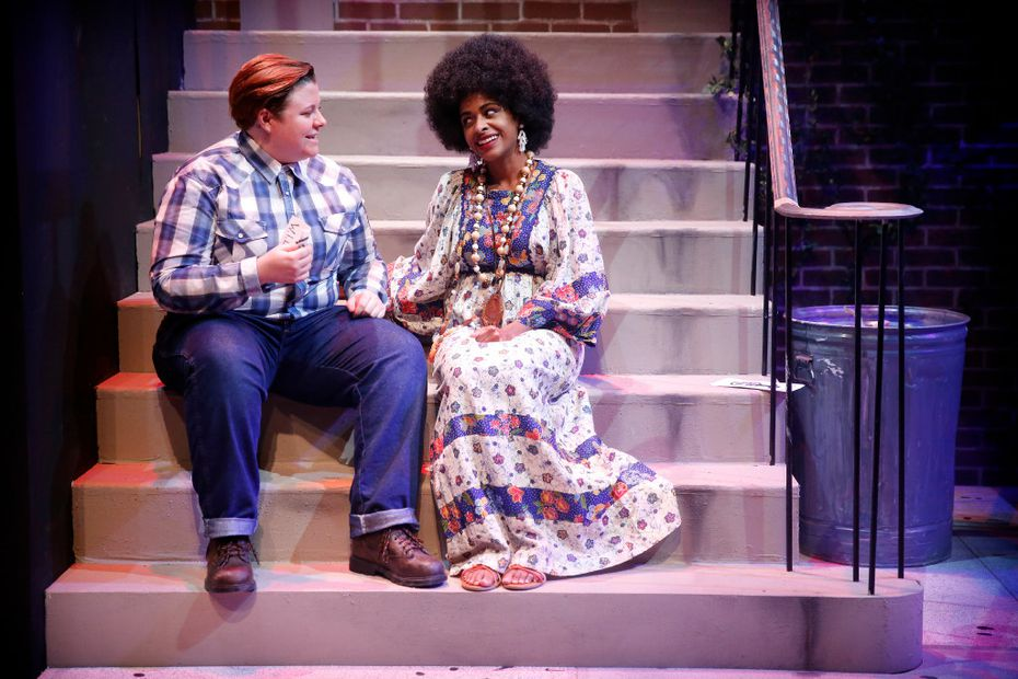 Kelsey Leigh Ervi (Peg), left, and Camille Monae (Roberta) in Hit the Wall.