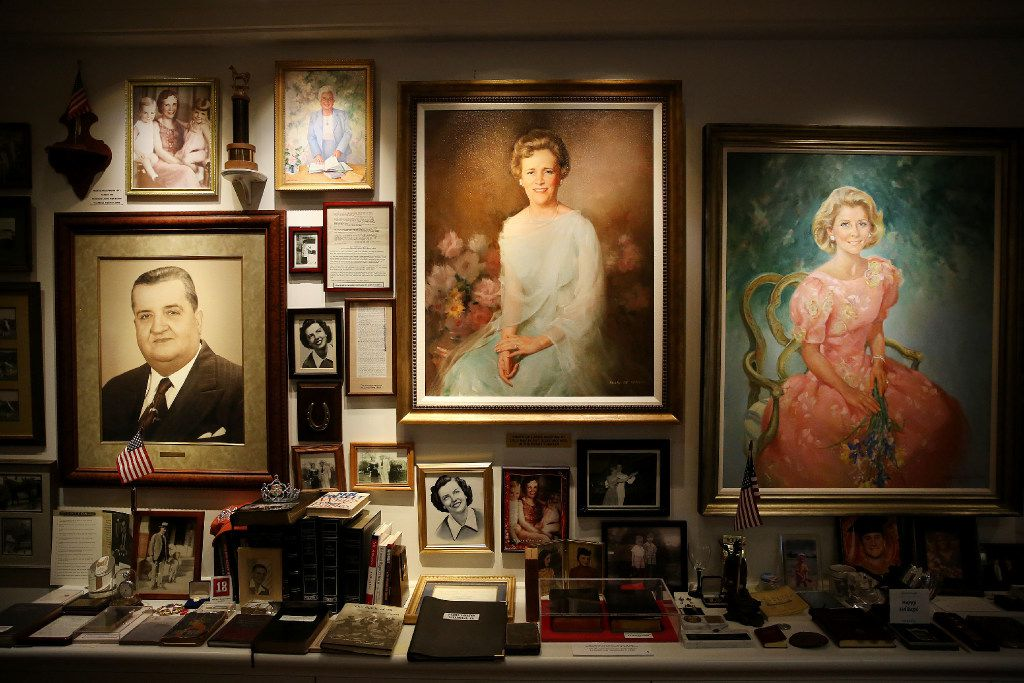 (From left) Portraits of Gabriel Ross Perot, who is Ross Perot's father, Lulu May Perot, who is Ross Perot's mother, and Nancy Perot, who is one of Ross Perot's daughter, are among the personal artifacts of Ross Perot Sr. at The Perot Group headquarters in Plano, Texas Friday October 14, 2016. The Perot Group is in the process of moving its headquarters. (Andy Jacobsohn/The Dallas Morning News)