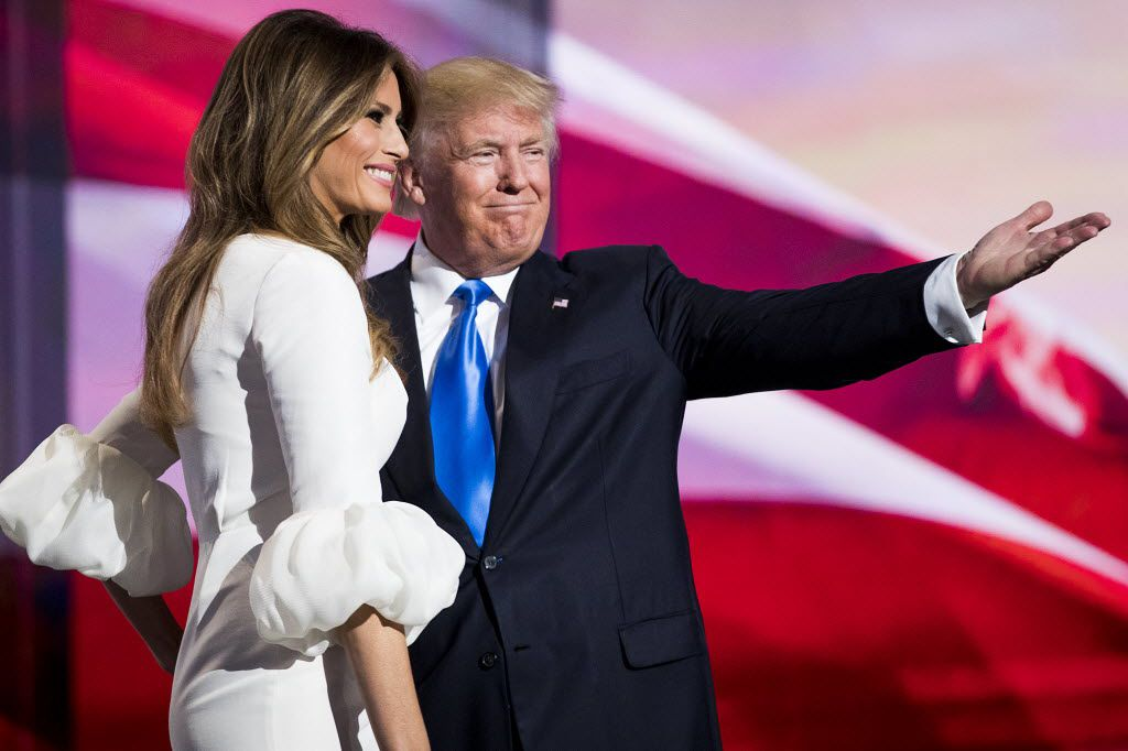 Donald Trump introduced his wife, Melania, before she addressed the second session of the Republican National Convention on Monday night in Cleveland.