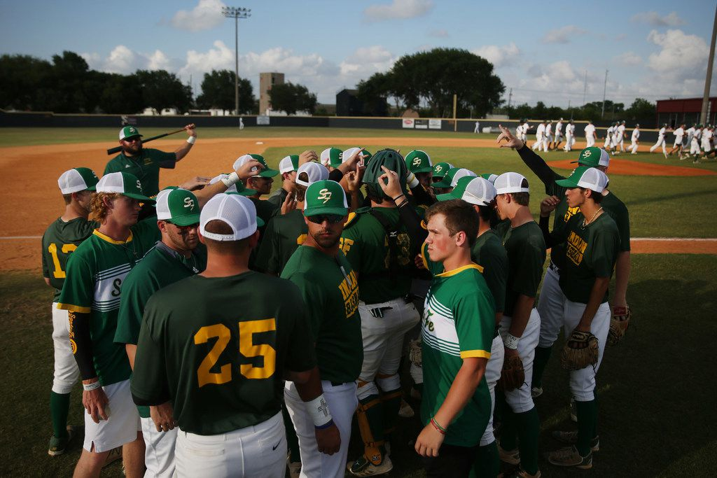 Santa Fe continues warming up before the second game of the best-of-three series in the Class 5A Region III playoff high school baseball game between Santa Fe and Kingwood Park at Jim Kethan Field at Deer Park High School in Deer Park, TX Saturday May 19, 2018. On Friday morning, 10 people were killed and 13 were injured after a shooting at Santa Fe High School. The game was postponed to Saturday after it was scheduled for Friday. Dimitrios Pagourtzis was booked into the Galveston County Jail on capital murder charges.