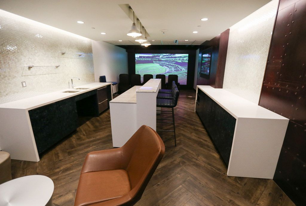 A model suite, which will be available at Globe Life Field, is pictured above on Tuesday, Nov. 27, 2018 in Arlington. (Ryan Michalesko/The Dallas Morning News)