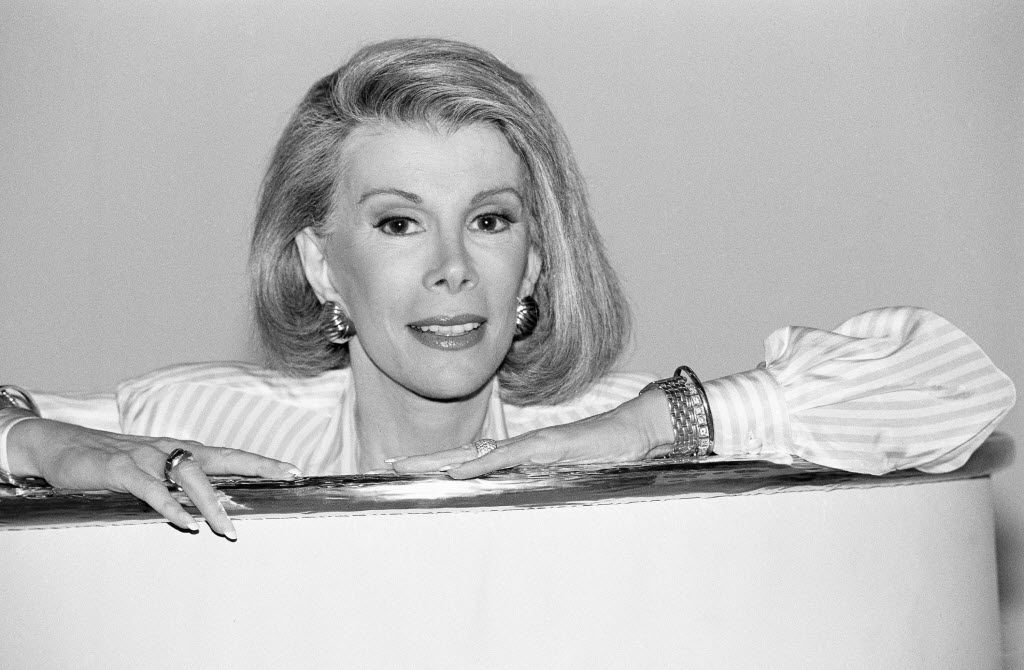 """Joan Rivers announces that she is starting a new syndicated talk show, """"The Joan Rivers Show,"""" in  1989."""