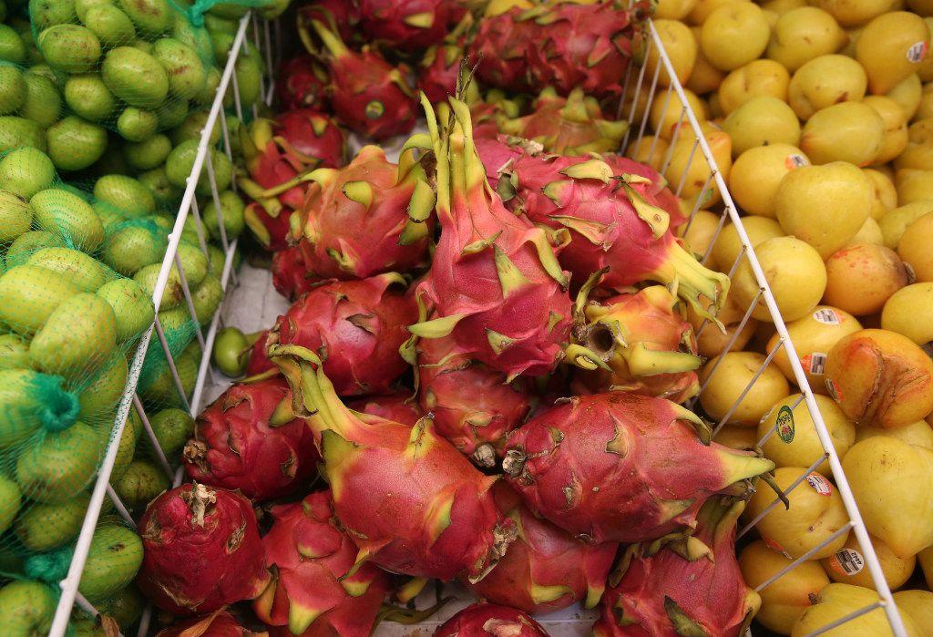 Dragon fruit at Jusgo Supermarket in Plano  (Rose Baca/Staff Photogorapher)