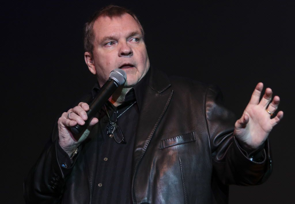 Michael Aday, better known as  Meat Loaf, speaks at the Thomas Jefferson High School Alumni Association Distinguished Alumni Convocation at Thomas Jefferson High School in Dallas in  2015.
