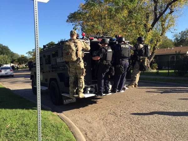 SWAT officers were later dispatched to the neighborhood on Wilbur Street.