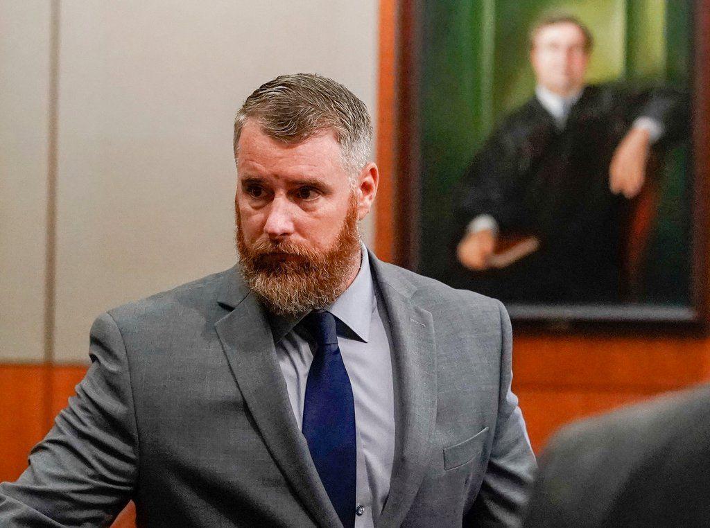 ARCHIVO- En esta fotografía del 13 de junio de 2018 se muestra Terry Thompson en un tribunal de la ciudad de Houston, Texas. ( Melissa Phillip/Houston Chronicle vía AP, Pool, Archivo)