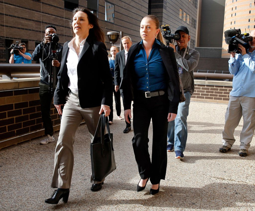 Amber Guyger was at the Dallas courthouse Tuesday but did not attend a meeting her attorneys had with state District Judge Tammy Kemp. The judge issued a gag order in the case.