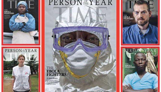 El personal médico encargado de combatir la epidemia de ébola recibió la distinción de Personajes del Año de la revista Time. (TIME/CORTESIA)