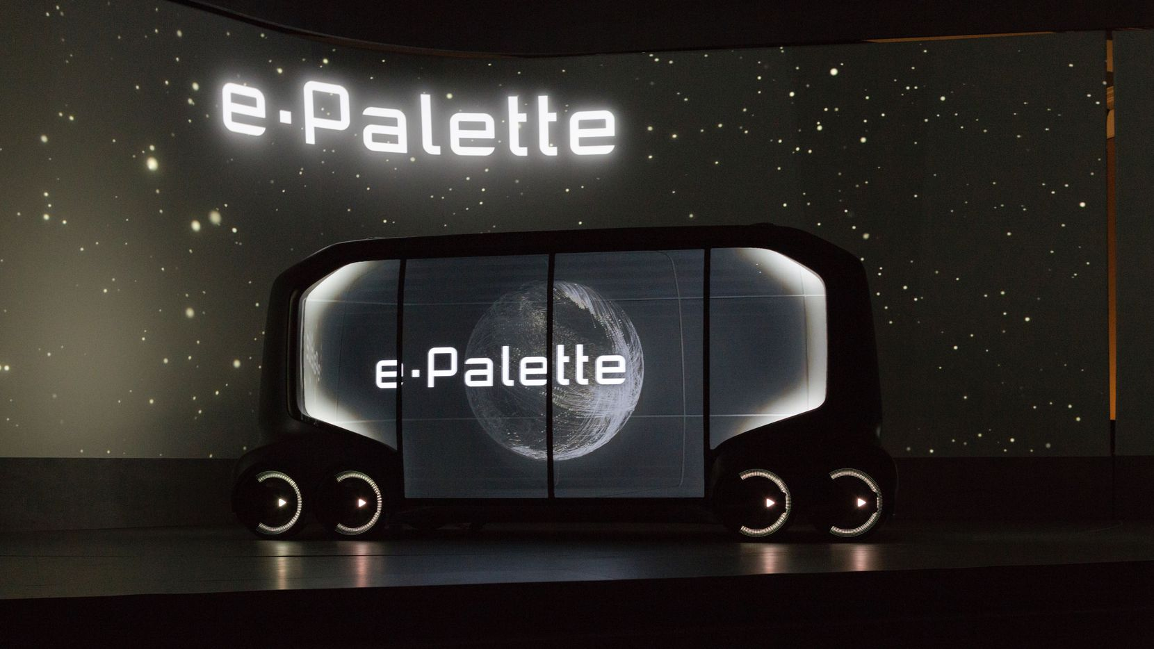 Toyota's concept vehicle, the e-Palette, debuted at this year's Consumer Electronics Show in Las Vegas.