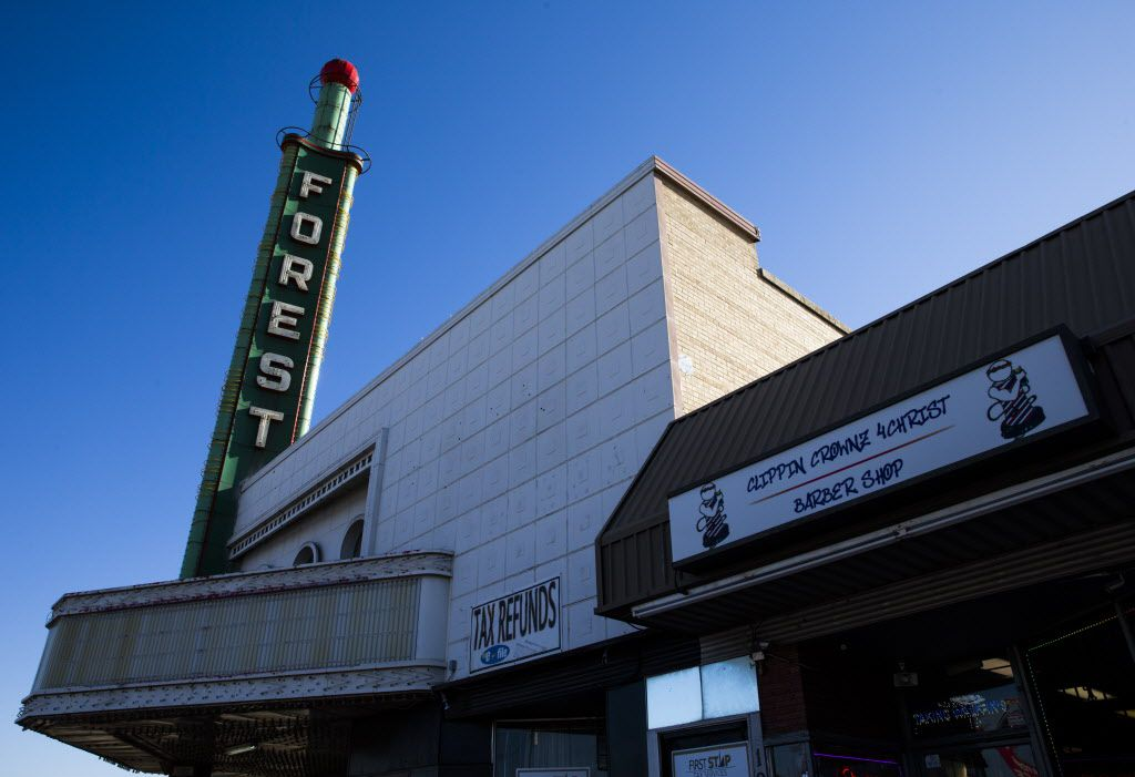 The Forest Theater and the adjacent shopping center as seen on Thursday, November 30, 2017 on Martin Luther King Jr. Blvd. in south Dallas. The Real Estate Council Foundation has awarded a $1 million grant to beautify the area.