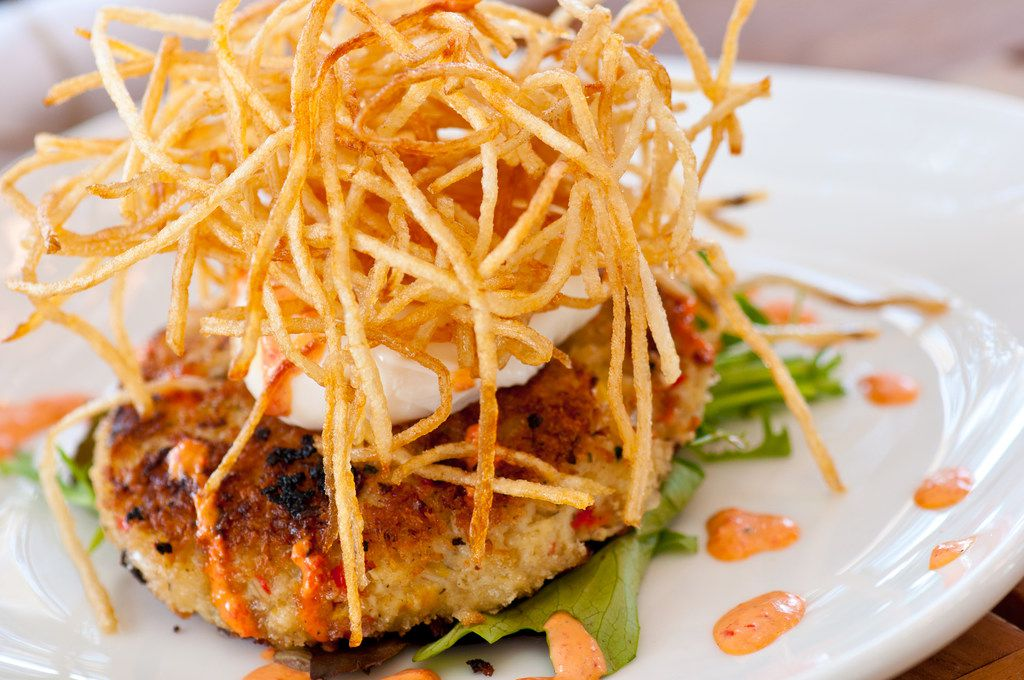 Princi Italia locations will serve three-course Easter brunch for $36 per person. This is Princi crab cake with poached egg, roasted red pepper aioli and matchstick potatoes.