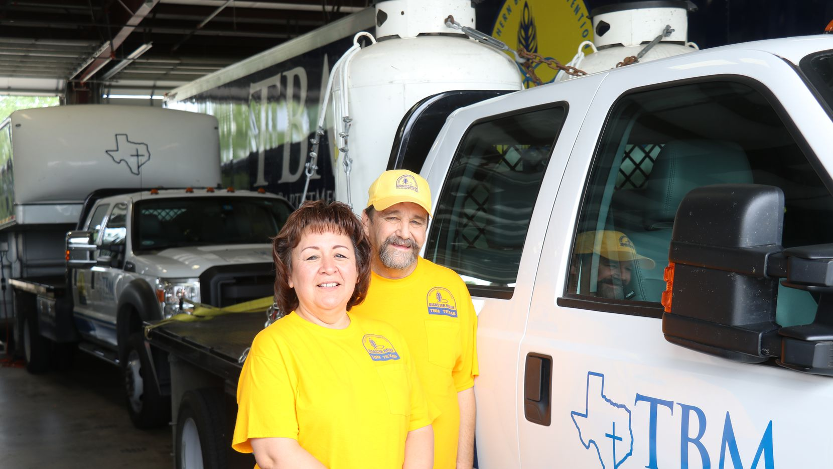 The Schiecks have more than a decade of experience when it comes to disaster relief. Russell started volunteering for the Texas Baptist Men in 2002; Rachel began helping for the organization in 2005.