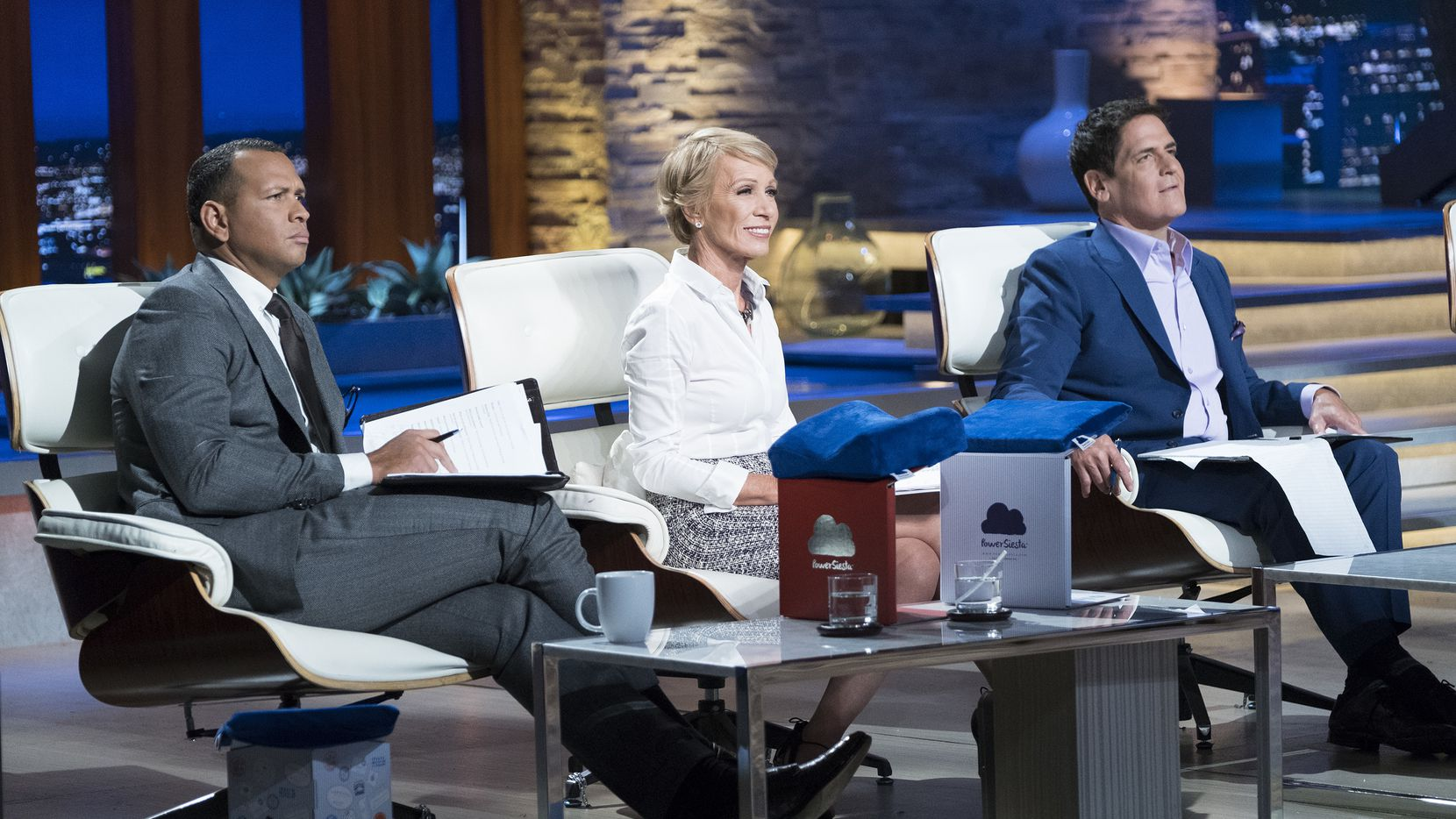 """Shark Tank"" investors Alex Rodriguez, Barbara Corcoran and Mark Cuban hedge their bets on Sunday's episode featuring the Gronkowski brothers."
