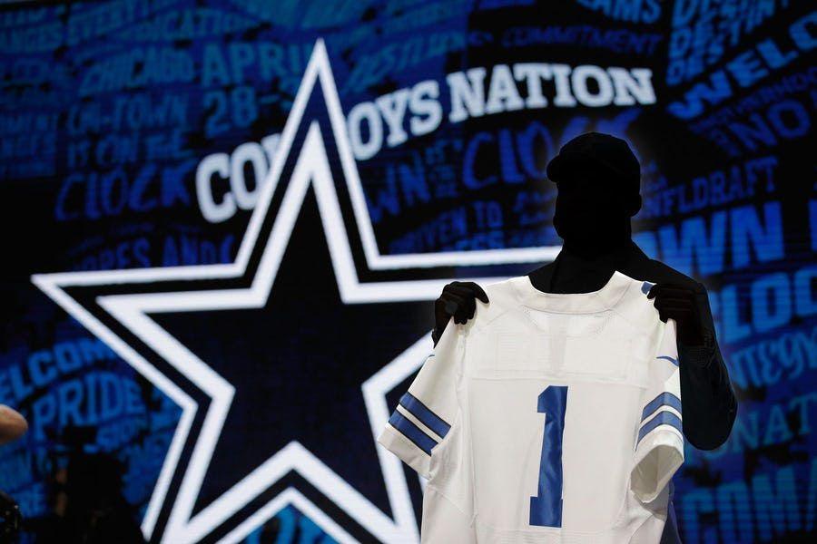 Los Dallas Cowboys eligen con el puesto número 58 en el draft de la NFL. (Ilustración de DMN)
