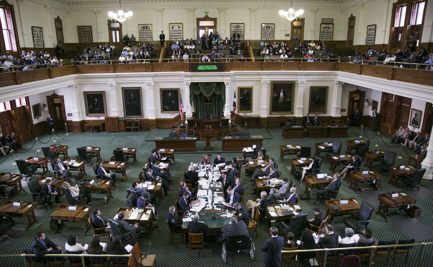 Hundreds of people arrived at the Texas Capitol Thursday, February, 2, 2017 for a hearing in the Texas Senate on a bill to ban so-called sanctuary cities, the term for local governments that decline in some way to cooperate with federal immigration enforcement efforts.