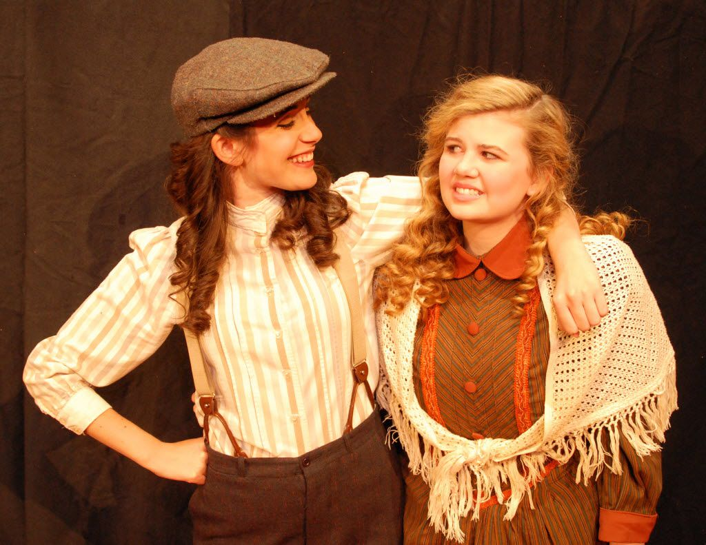 From left, Monique Abry played Jo and Grace Loncar played Amy in Little Women Oct. 10-Nov. 2, 2014 at Contemporary Theatre of Dallas.