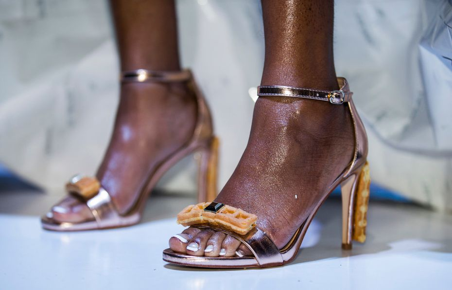 The winning look, created by Jean Estella Designs, was garnished with waffles on the heels.