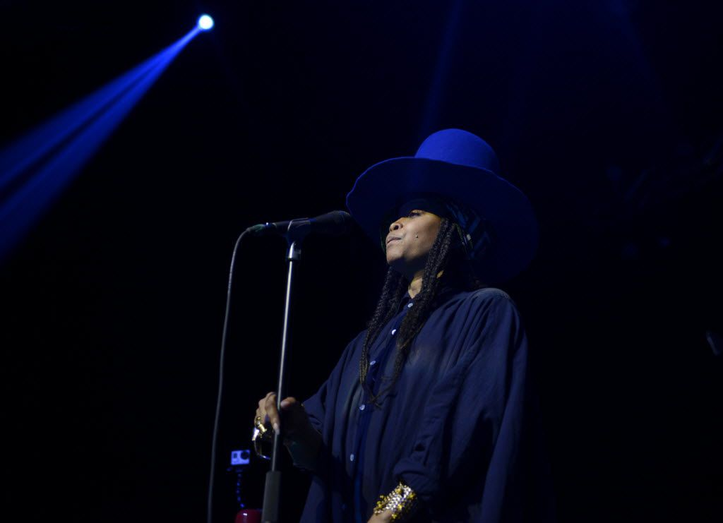 Erykah Badu, headlining the opening night of The Bomb Factory's return to Deep Ellum (Rose Baca/Staff photographer)