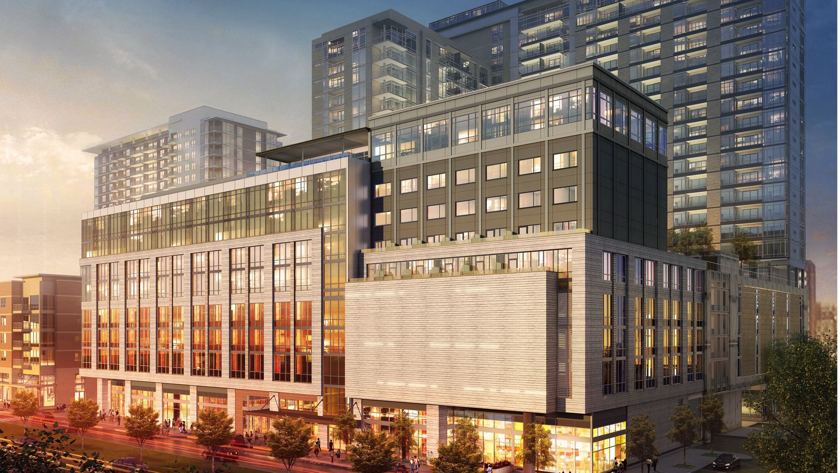 Hilton Worldwide plans to open an outpost of its newest brand, Canopy, at Cityplace West and Oak Grove in Uptown. Opening in 2017, the hotel will have 150 rooms. (Hilton)