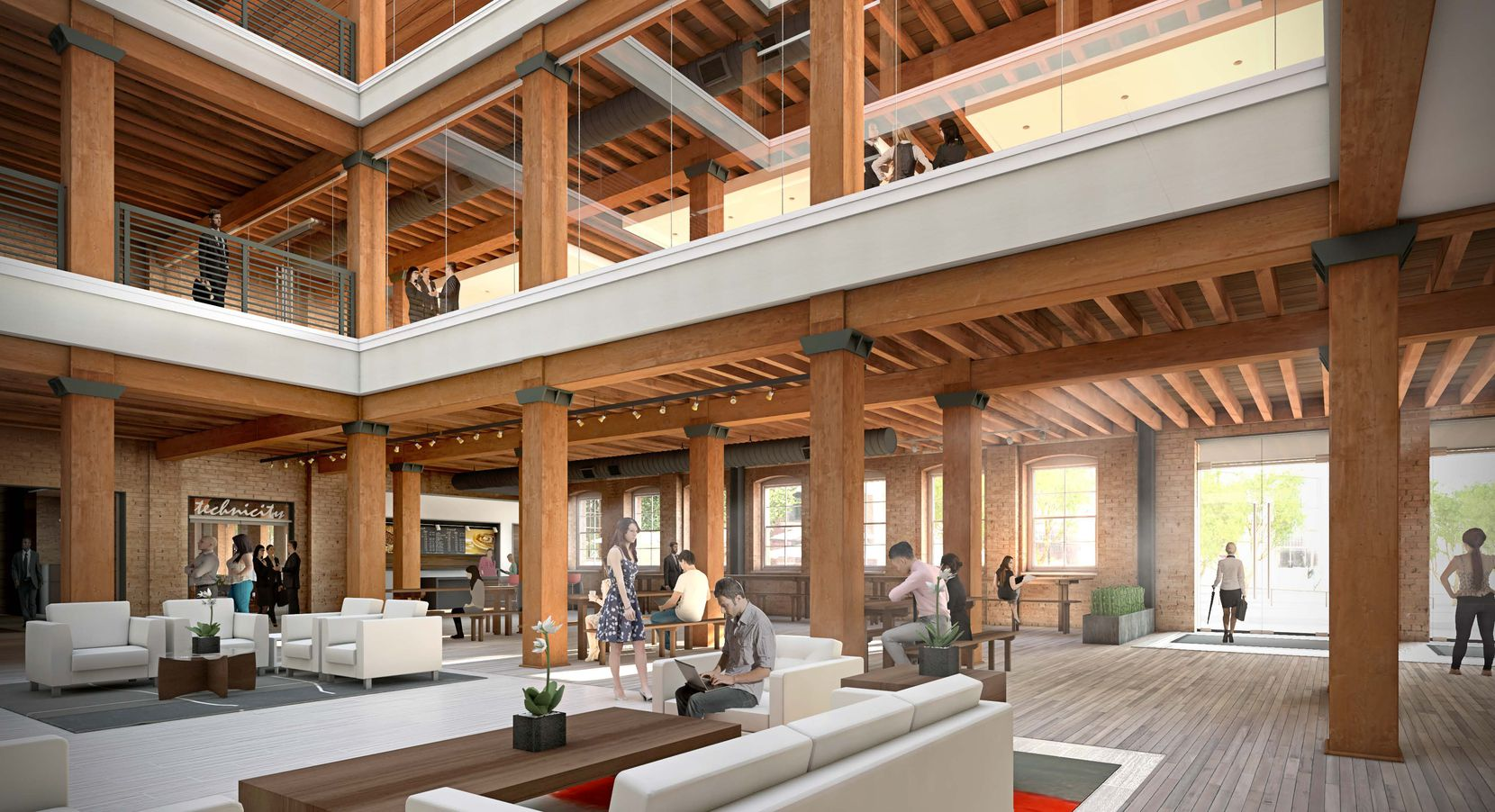 The former West End Marketplace retail and entertainment building is being converted into office space for tech and creative firms.