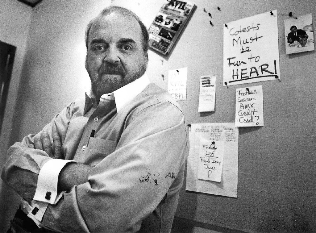 Ron Chapman in the KVIL offices in 1992.