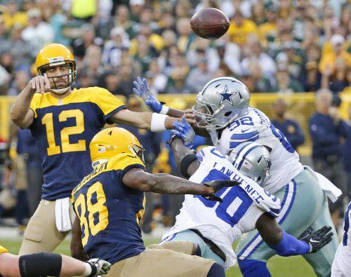 Dallas Cowboys se enfrentaron a Green Bay Packers el 16 de octubre en el Lambeau Field de Green Bay. (Louis DeLuca/The Dallas Morning News)