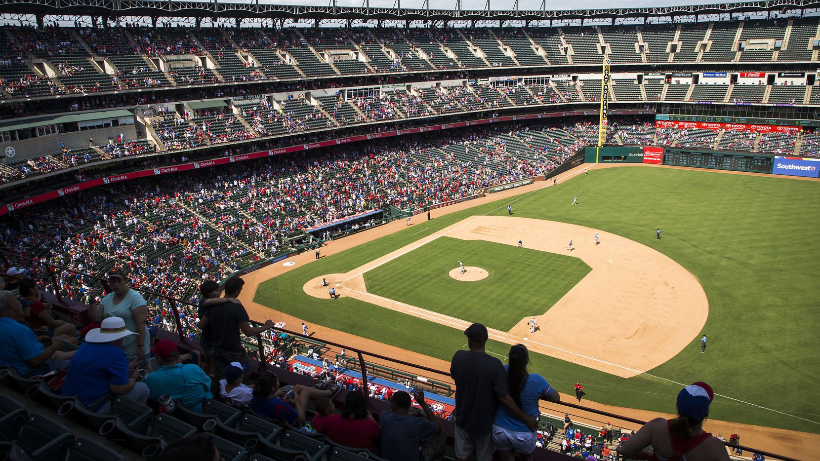 File photo of Globe Life Park in Arlington from 2017. (Smiley N. Pool/The Dallas Morning News)
