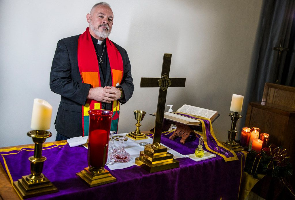 Pastor Curtis Smith poses for a photograph at Trinity Metropolitan Community Church in Grand Prairie, Texas on Dec. 14, 2018. Smith went through conversion therapy for nearly 20 years before finding community in the pro-LGBT church.